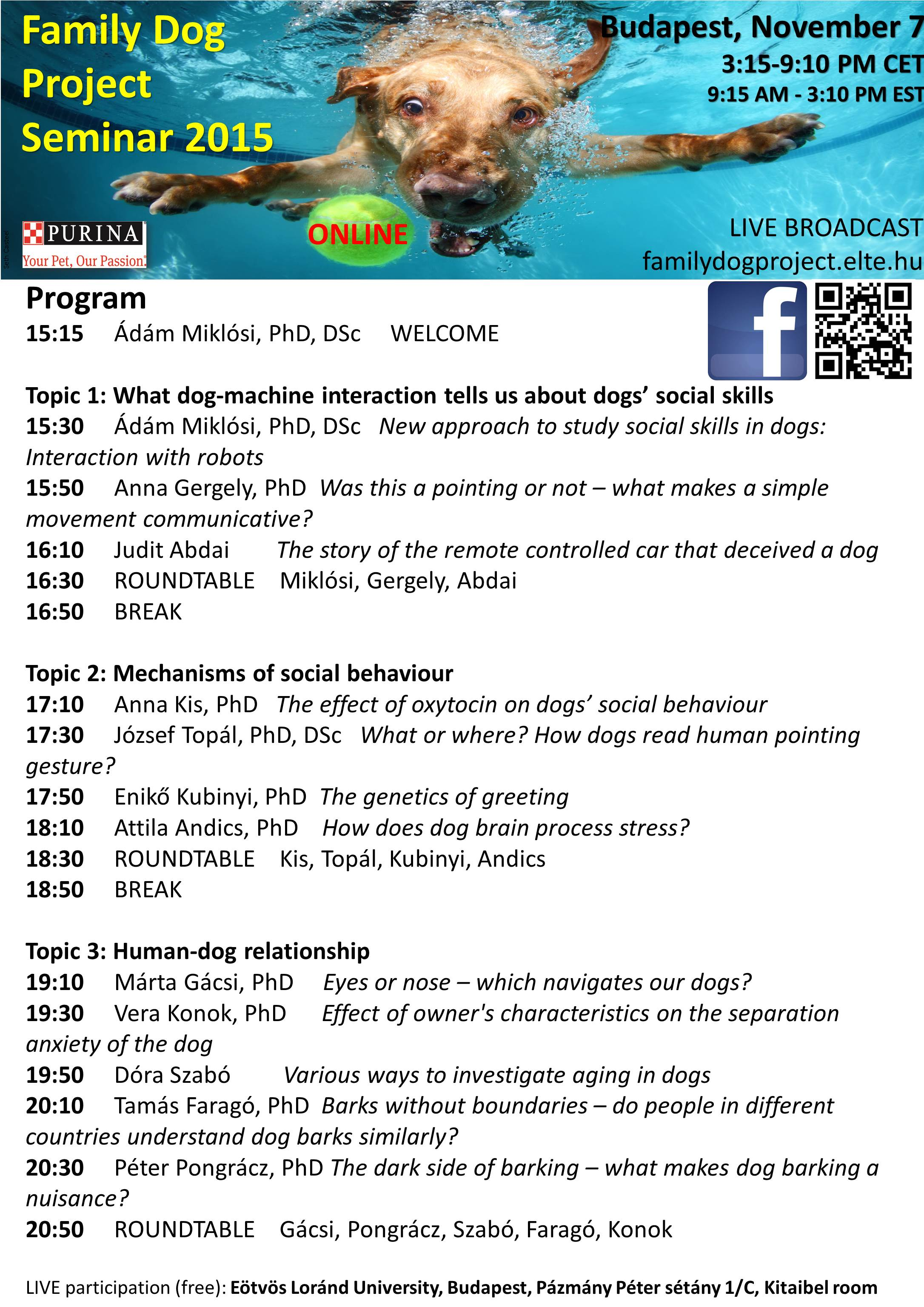 Free Family Dog Project Online Seminar - Dorothy Hinshaw Patent
